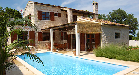 Bildergalerie ferienhaus villa eterna in liznjan istrien for Kroatien villa mit pool